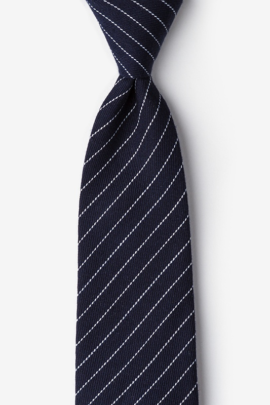 Lewisville Navy Blue Extra Long Tie Photo (0)