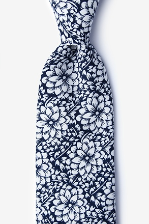 Lincoln Navy Blue Extra Long Tie