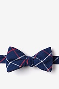 Navy Blue Cotton Maricopa Butterfly Bow Tie