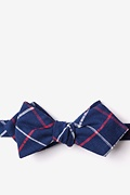 Navy Blue Cotton Maricopa Diamond Tip Bow Tie