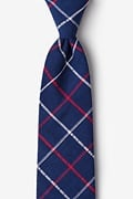 Navy Blue Cotton Maricopa Extra Long Tie