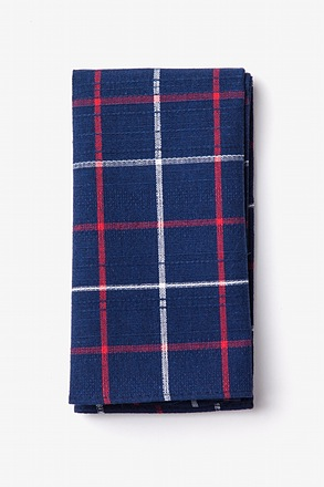 Maricopa Navy Blue Pocket Square