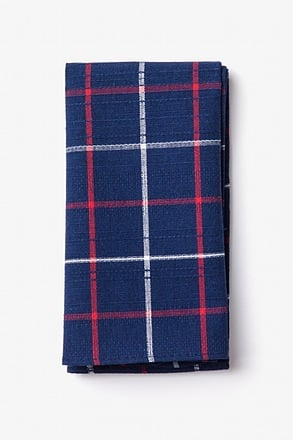 _Maricopa Navy Blue Pocket Square_