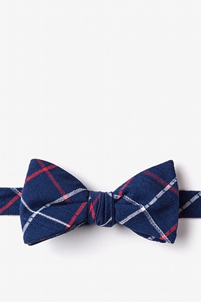 _Maricopa Navy Blue Self-Tie Bow Tie_