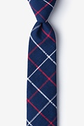 Navy Blue Cotton Maricopa Skinny Tie
