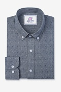 Mason Navy Blue Classic Fit Casual Shirt