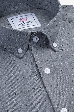 Mason Navy Blue Slim Fit Casual Shirt