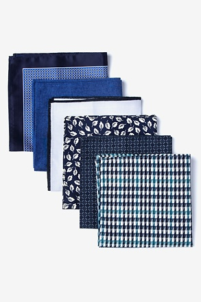 Mixed Blues Pocket Square Pack