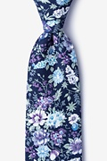 Navy Blue Cotton Moorten Extra Long Tie