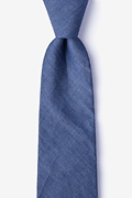 Navy Blue Cotton Munroe Extra Long Tie