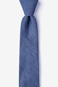 Navy Blue Cotton Munroe Skinny Tie