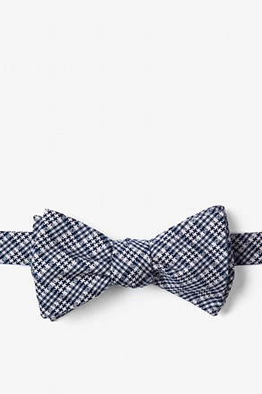_Navy Blue Animator Self-Tie Bow Tie_