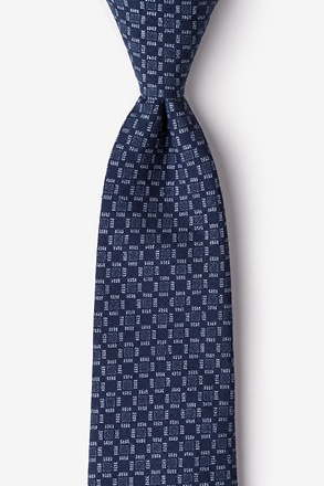 _Nixon Navy Blue Extra Long Tie_