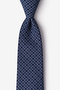 Navy Blue Cotton Nixon Tie