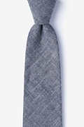 Navy Blue Cotton Norton Extra Long Tie