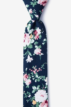 Nottingham Navy Blue Skinny Tie