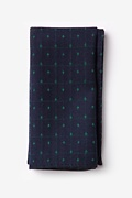 Navy Blue Cotton Pala Pocket Square