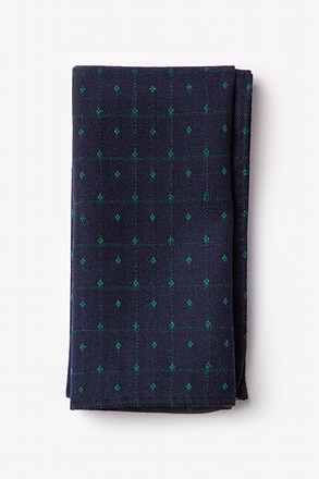 Pala Navy Blue Pocket Square
