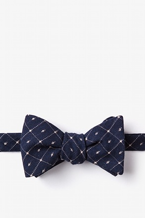 Pala Navy Blue Self-Tie Bow Tie