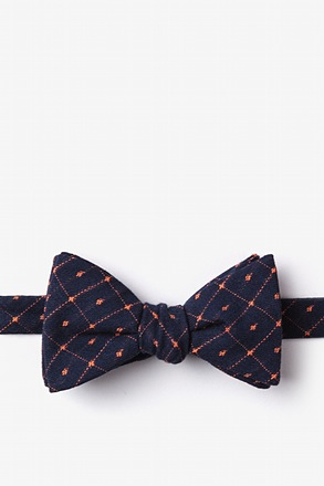 _Pala Navy Blue Self-Tie Bow Tie_
