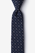 Pala Navy Blue Skinny Tie Photo (0)