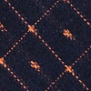 Navy Blue Cotton Pala Skinny Tie