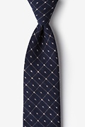 Navy Blue Cotton Pala Tie