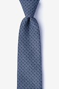 Navy Blue Cotton Pike Extra Long Tie