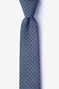 Navy Blue Cotton Pike Skinny Tie