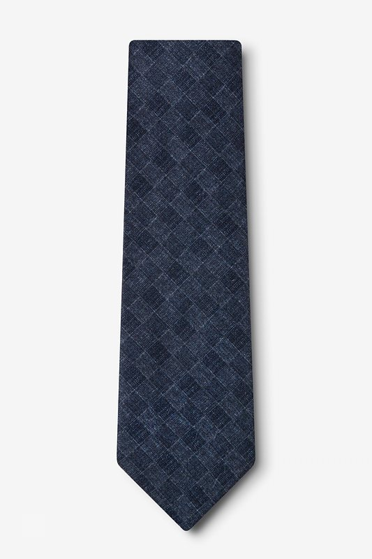 Prescott Navy Blue Extra Long Tie Photo (1)