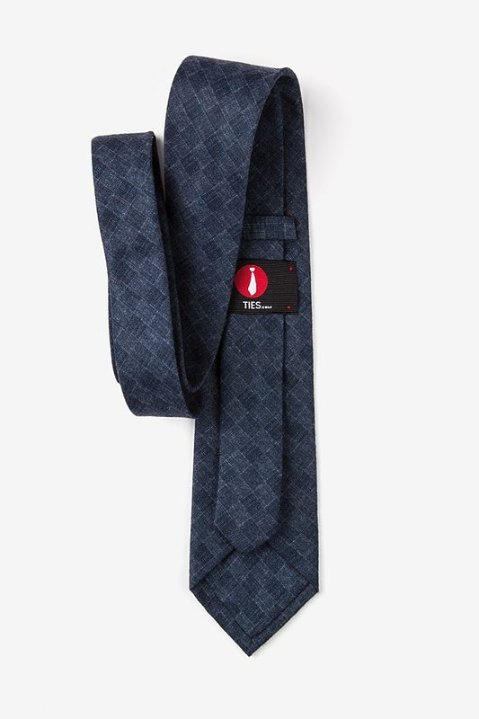 Prescott Navy Blue Extra Long Tie Photo (2)