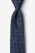 Prescott Navy Blue Extra Long Tie Photo (0)