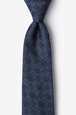 Prescott Navy Blue Extra Long Tie