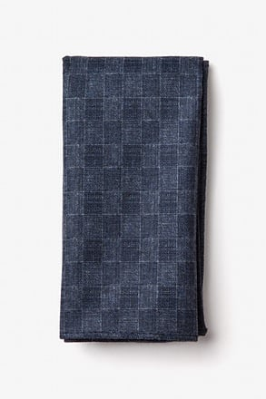 Prescott Navy Blue Pocket Square
