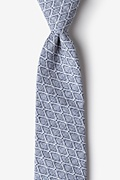 Navy Blue Cotton Redmond Extra Long Tie