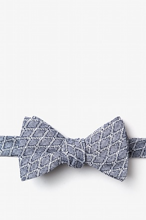 _Redmond Navy Blue Self-Tie Bow Tie_