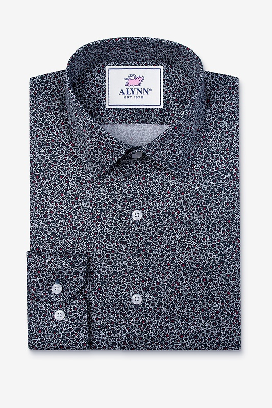 Reid Floral Slim Fit Untuckable Dress Shirt Photo (1)