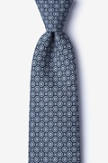 Navy Blue Cotton Reynold Extra Long Tie