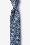 Navy Blue Cotton Reynold Skinny Tie