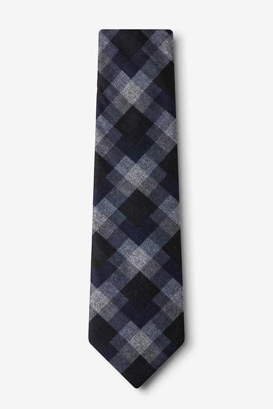 Richland Navy Blue Extra Long Tie Photo (1)