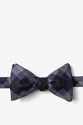Richland Navy Blue Self-Tie Bow Tie