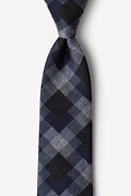 Navy Blue Cotton Richland Tie