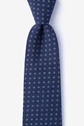Navy Blue Cotton Ross Extra Long Tie