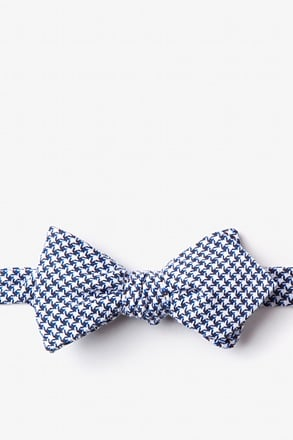 Sadler Navy Blue Diamond Tip Bow Tie