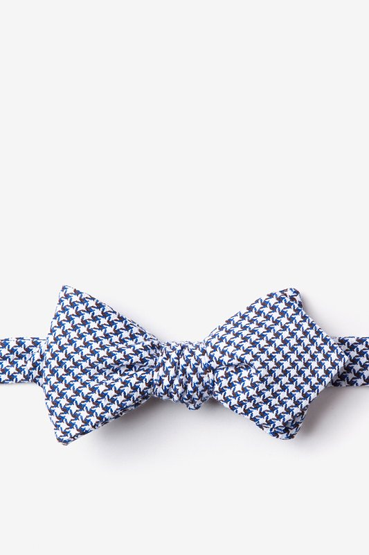 Sadler Navy Blue Diamond Tip Bow Tie Photo (0)