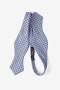 Sadler Navy Blue Diamond Tip Bow Tie Photo (1)