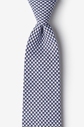 _Sadler Navy Blue Extra Long Tie_