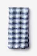 Navy Blue Cotton Sadler Pocket Square