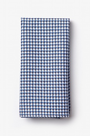 Sadler Navy Blue Pocket Square