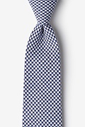 Navy Blue Cotton Sadler Tie